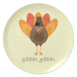Gobble, Gobble Turkey Plate