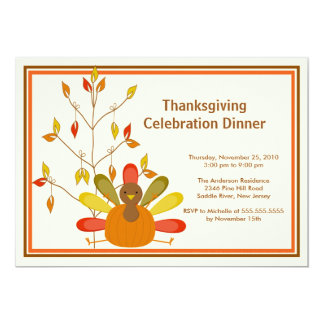 Gobble Gobble Turkey Thanksgiving Invitations