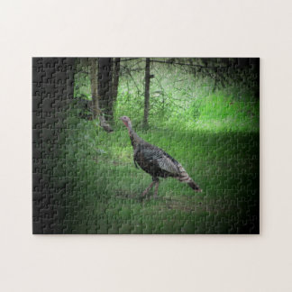 Gobble on the lawn jigsaw puzzle
