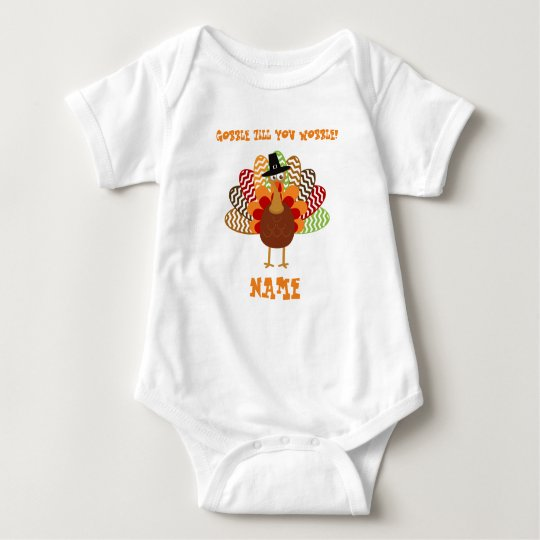 GOBBLE TILL YOU WOBBLE Baby Jersey Bodysuit