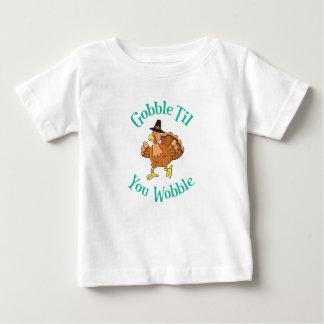 Gobble Till You Wobble Thanksgiving Turkey Baby T-Shirt