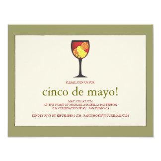 Gobelet d'invitation de partie de Cinco De Mayo de Carton D'invitation 10,79 Cm X 13,97 Cm