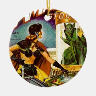 Goblin Behind Glass Ceramic Ornament
