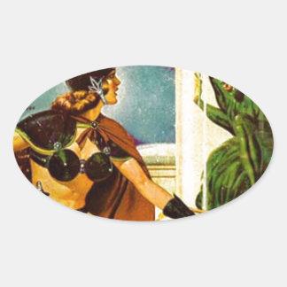 Goblin Behind Glass Oval Sticker
