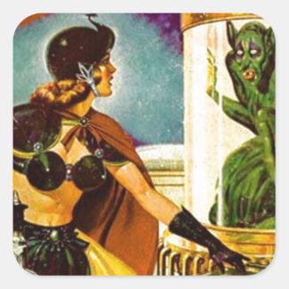 Goblin Behind Glass Square Sticker