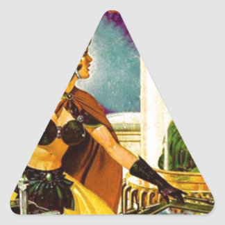 Goblin Behind Glass Triangle Sticker