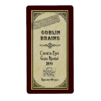 Goblin Brains Label Shipping Label