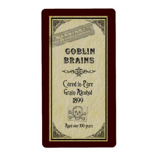 Goblin Brains Label Shipping Label