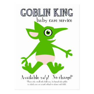 Goblin King Baby Care Service Postcard
