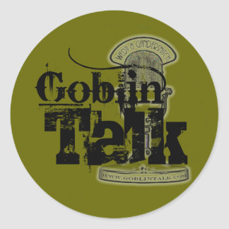 Goblin Talk Logo - Sticker! Classic Round Sticker