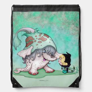 GOBOTRON ALIEN FUN CARTOON  Drawstring Backpack