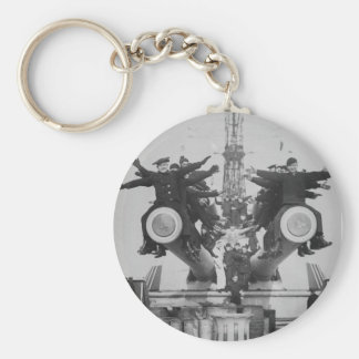 """""""Gobs"""" and Guns on the USS Texas Basic Round Button Keychain"""