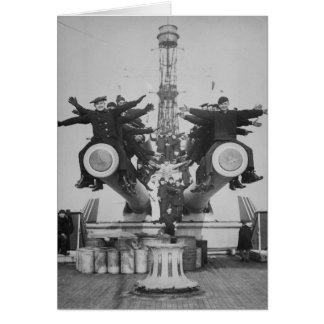 """""""Gobs"""" and Guns on the USS Texas Note Card"""