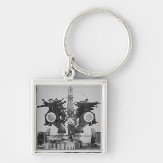 """""""Gobs"""" and Guns on the USS Texas Silver-Colored Square Keychain"""