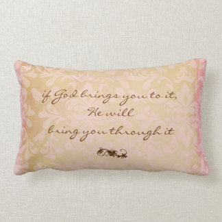 God and Faith Quote Throw Pillow