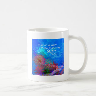 God and Voltaire in a blue sky. Coffee Mug