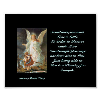 god_angel, Sometimes you must Give a LittleIn o... Poster