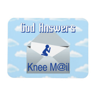 God Answers Knee Mail Gift Magnet