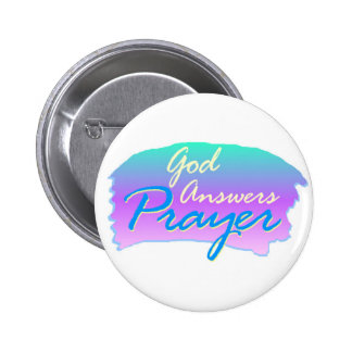 God answers prayer christian design 2 inch round button