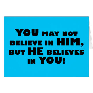 God believes in atheists note card