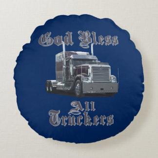 God Bless All Truckers Bunk Pillow