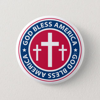 God Bless America 2 Inch Round Button