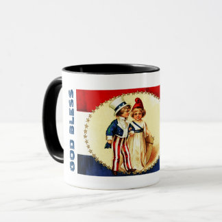 God Bless America.4th of July Gift Mugs
