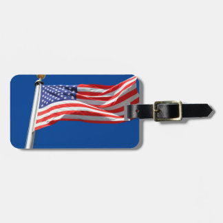 God Bless America, American Flag, Patriot Support Travel Bag Tags