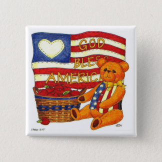God Bless America Button Pin