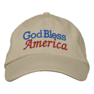 God Bless America Cap by SRF Embroidered Hats