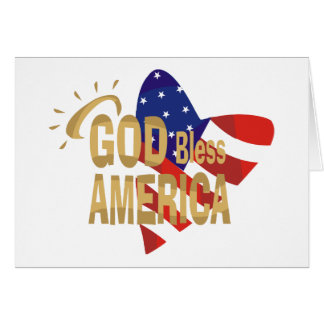 God Bless America card