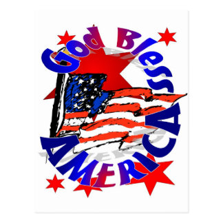 God Bless America Christian Postcard