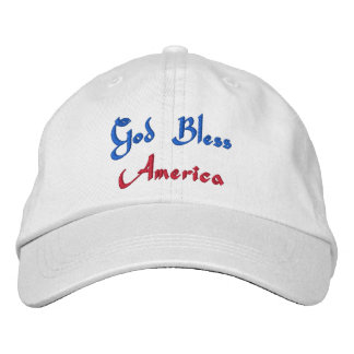 God Bless America Embroidered Hat