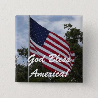 God Bless America Flag Pin