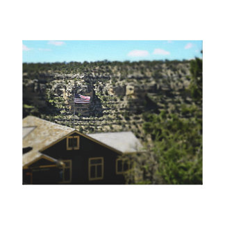 God Bless America! Grand Canyon 2017 Canvas Print