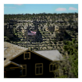 God Bless America! Grand Canyon 2017 Poster