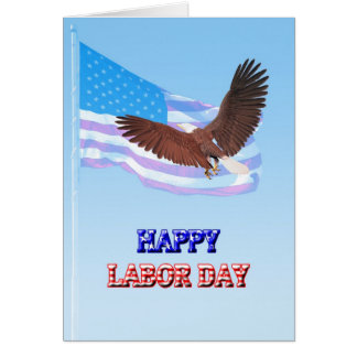 God Bless America Labor Day card