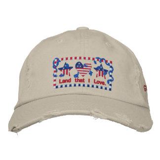God Bless America Land That I Love Patriotic Embroidered Baseball Cap