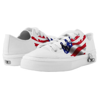 God Bless America Low-Top Sneakers