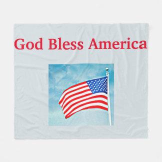God Bless America Medium Fleece Blanket