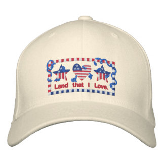 God Bless America Patriotic American Embroidered Hats