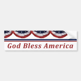 God Bless America Patriotic American Flag Bumper Sticker