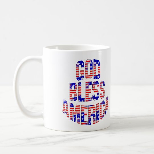God Bless America Patriotic Mug Cup