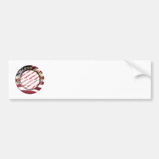God Bless America Patriotic Photo Frame Bumper Sticker