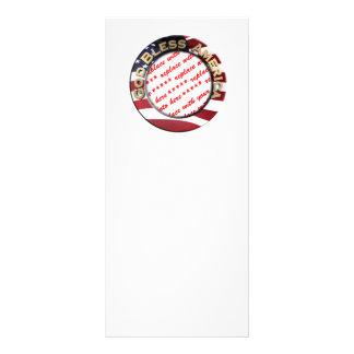 God Bless America Patriotic Photo Frame Rack Card Template