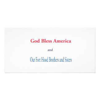 God Bless America Personalized Photo Card