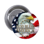 God Bless America Pinback Button