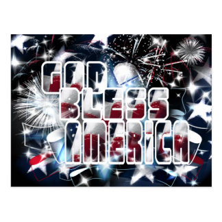 God Bless America Postcard