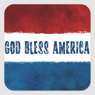 GOD BLESS AMERICA Square Stickers