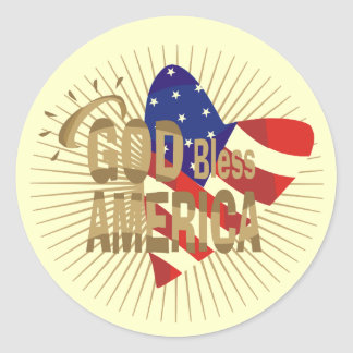 God Bless America Tshirts and Gifts Classic Round Sticker